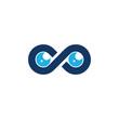 Vision Infinity Logo Icon Design