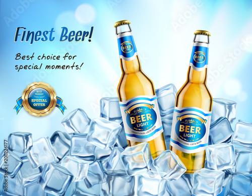Realistyczny Light Beer AD Poster