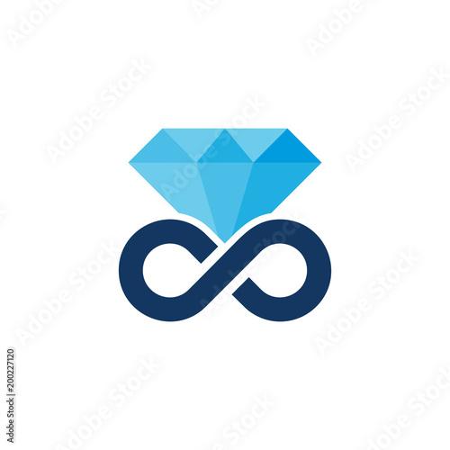 Diamentowy projekt logo ikona nieskończoności
