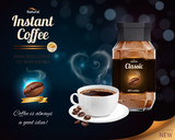 Instant Coffee Realistic Composition - 200227587