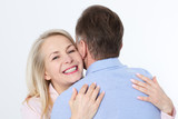 Middle aged couple hugging and having fun isolated on white - 200228761