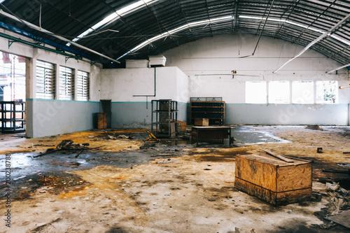 Foto op Canvas Oude verlaten gebouwen Abandono