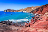 Santorini, Greece - Red Beach - 200242323