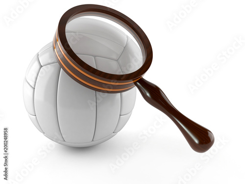 Fototapeta Volleyball with magnifying glass