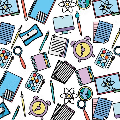 edukacja kolor szkoła narzędzia tło wzór