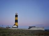 St Johns Leuchtturm, Nordirland am Abend