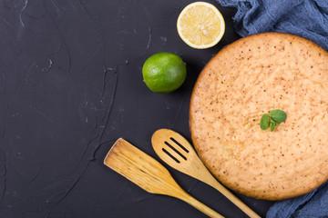 Homemade cake with lime