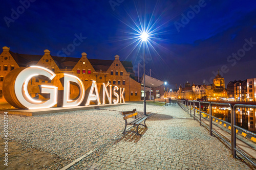 Old town of Gdansk withoutdor city sign, Poland
