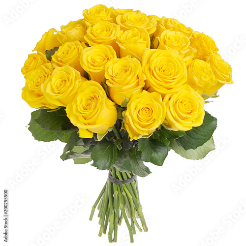 Bouquet of yellow roses