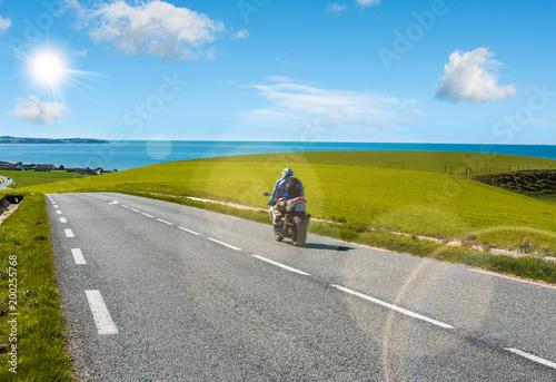 trajet en moto