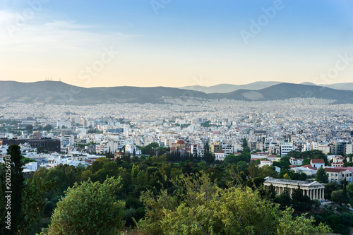 Keuken foto achterwand Athene view of Buildings around Athens city, Greece