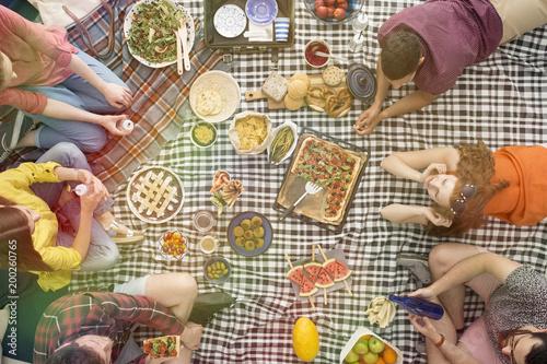 Foto Murales Bio, vege food picnic