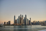 dubai marina, sunset, view from the water