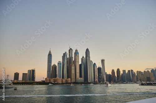 Foto op Plexiglas Dubai dubai marina, sunset, view from the water