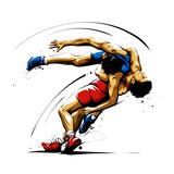 wrestling action 6 - 200279371