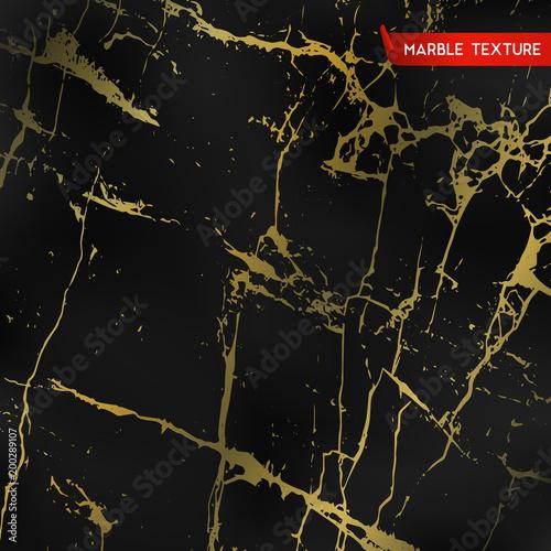 Czarne marmurowe tekstury ze złotem