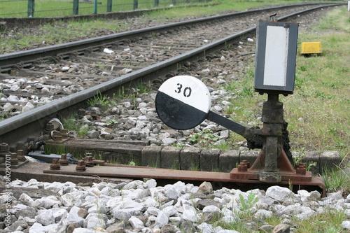 In de dag Spoorlijn Weiche 3