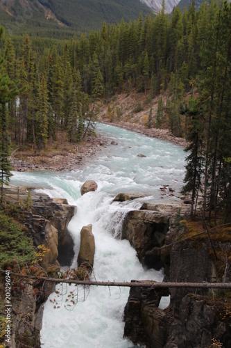 Magnificent Sunwapta Falls, Jasper National Park, Alberta