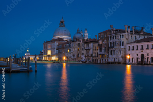 In de dag Venetie Venice, Italy: night view of the Grand Canal