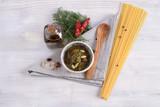 Bowl with wild fennel dressing, Sicilian ingredient - 200304741