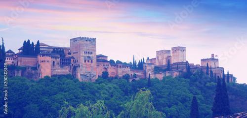 Sunset view of Alhambra. Granada
