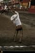 Mexican charro flourishing the rope
