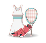 tennis women clothing icon vector illustration design - 200317102