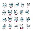 emotion set. emoji set. vector illustration