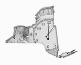New York NY Clock Time Passing Forward Future 3d Illustration