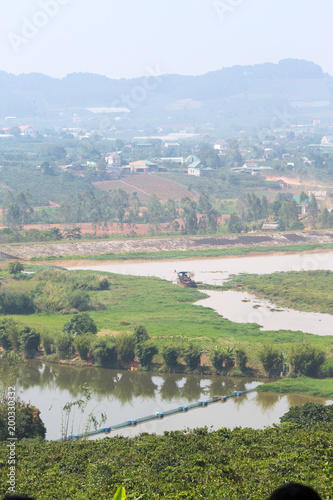 Foto Murales Landscape view of the coffee plantation under Dalat city,Vietnam