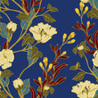 Abstract elegance pattern with floral background. - 200336580