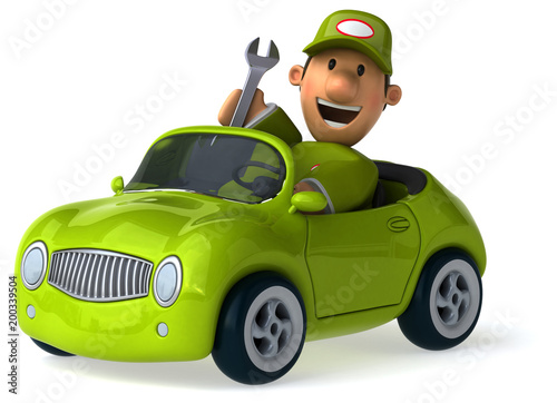 Fun mechanic - 3D Illustration - 200339504