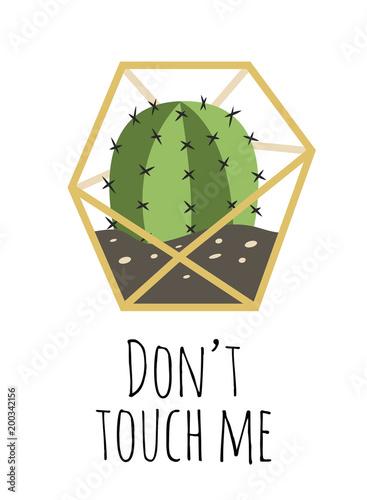 Foto op Plexiglas Retro sign don't touch me