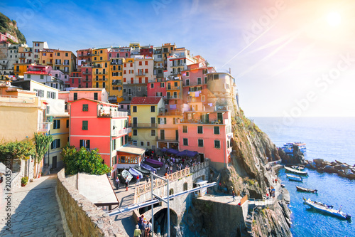Scenic view of the Manarola, Italy