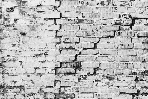 Staande foto Stenen Brick texture with scratches and cracks