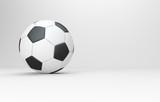 Klassischer Fußball auf weißem Hintergrund - 200361329