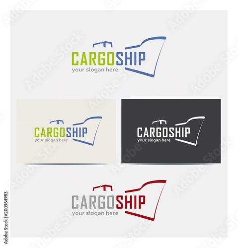 Logo Cargo Boat Multicolor Icone Wizytówki i wykresy Corporate Chart Kilka kolorów