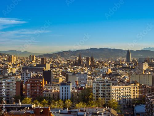 Aluminium Barcelona Barcelona cityscape, Spain