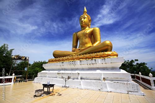 Fotobehang Boeddha Big Buddha statue in gold color