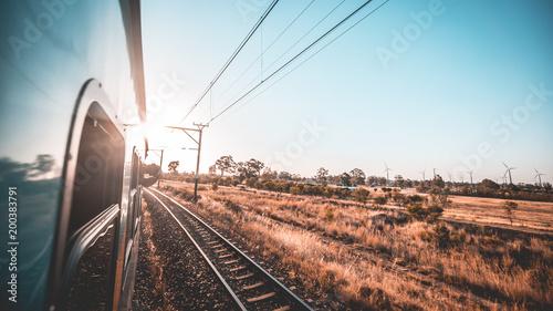 In de dag Spoorlijn Zugreise