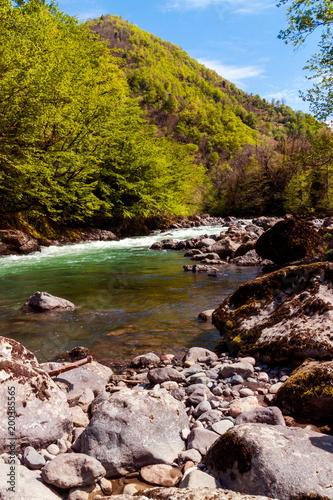 Landscape in the mountains, Ajara, Georgia.Caucasus - 200385565