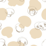 Champignon graphic color seamless pattern sketch illustration vector - 200388179