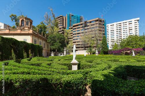 Fragments of Monforte Gardens in Valencia, Spain.