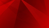 Abstract background of lines, polygons and halftone dots in red colors
