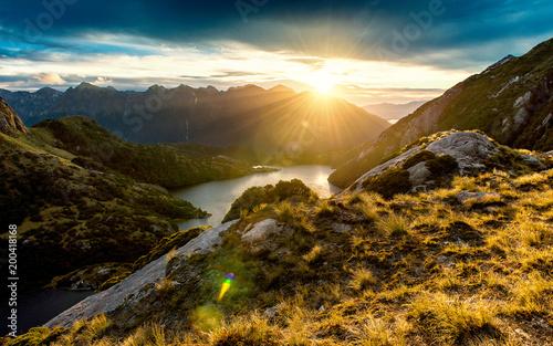 Keuken foto achterwand Ochtendgloren Fiordland Sunrise