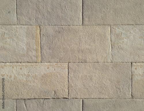 Staande foto Stenen Stone ashlars. Seamless texture with a stone ashlars wall.