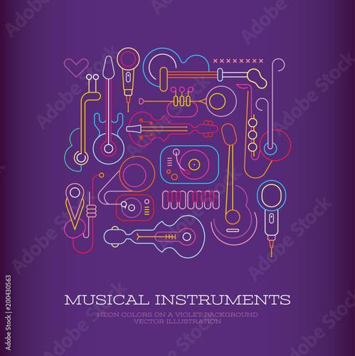 Plexiglas Abstractie Art Musical Instruments Design