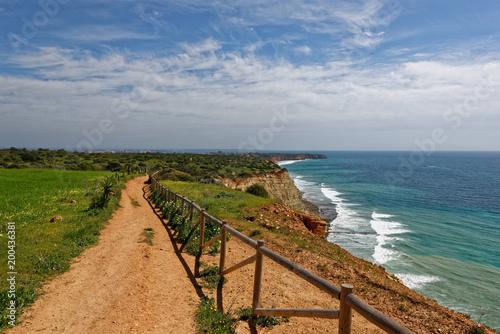 Côte de l'Algarve à Luz, Portugal