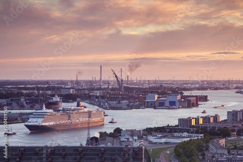 Port entrance Rotterdam