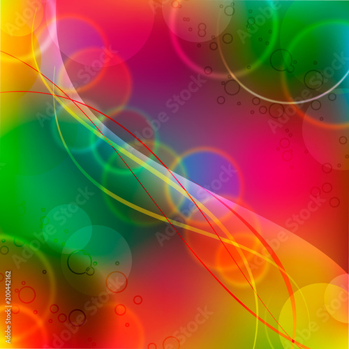Light colorful vector geometrical background circles